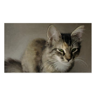 Grey Tabby Painting Business Cards