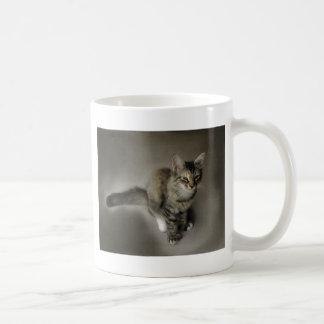 Grey Tabby Painting Coffee Mug
