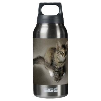 Grey Tabby Painting Thermos Bottle