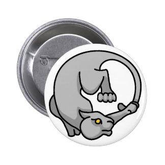 Grey Tailchaser Pinback Button