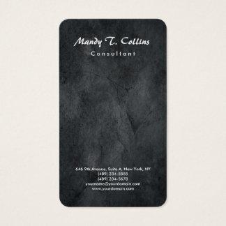 Grey Texture Brush Script Minimalist Modern Business Card