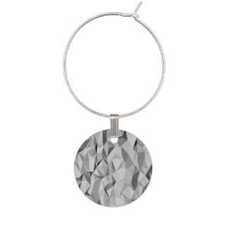 Grey texture pattern wine charms