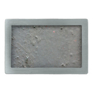 Grey textured rugged surface with concete effect rectangular belt buckle