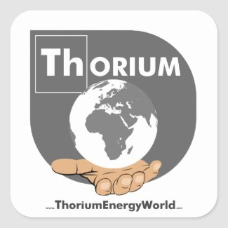 Grey Thorium sticker, small
