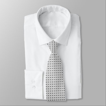Professional Business Grey Tie With Polka Black Dots