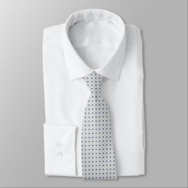 Professional Business Grey Tie With Polka Blue Dots