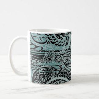 Grey Tiffany Paisley Coffee Mug