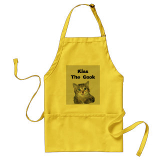 Grey Tiger Kitten with Blue Eyes Adult Apron