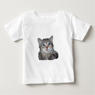 Grey Tiger Kitten with Blue Eyes Baby T-Shirt