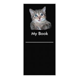 Grey Tiger Kitten with Blue Eyes Bookmark Rack Card