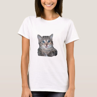 Grey Tiger Kitten with Blue Eyes T-Shirt