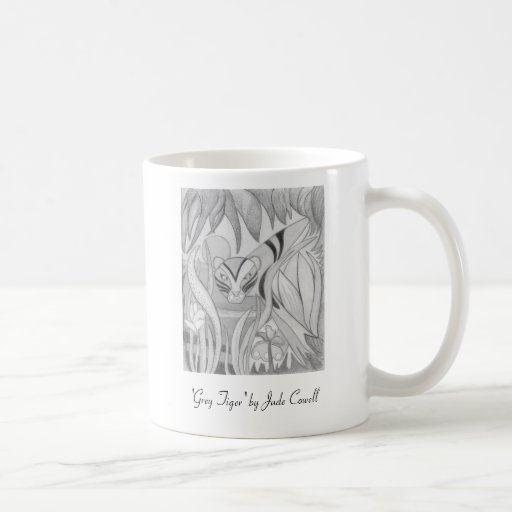 'Grey Tiger' small coffee mug