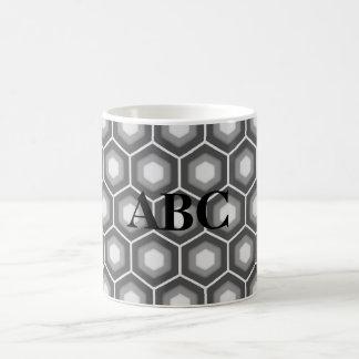 Grey Tiled Hex Mug