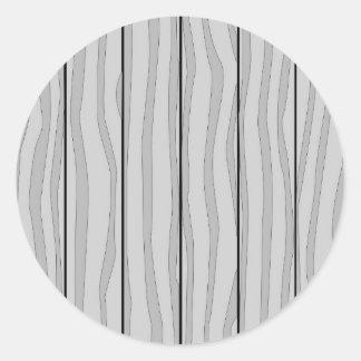 Grey Timber Background Classic Round Sticker