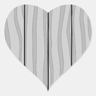 Grey Timber Background Heart Sticker