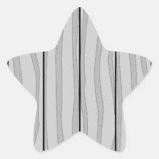 Grey Timber Background Star Sticker