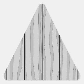 Grey Timber Background Triangle Sticker