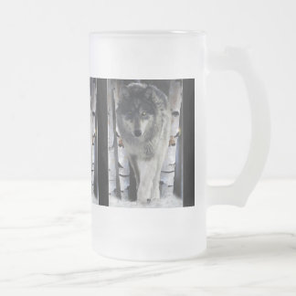 GREY TIMBER WOLF Gift Mugs