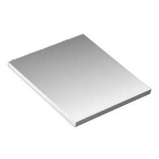 Grey to White Gradient Notepad