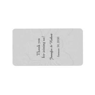 Grey Tone on Tone Wedding Lip Balm Label