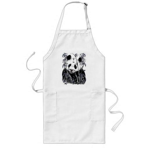 Grey Tone Panda Aprons