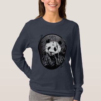Grey Tone Panda Oval Shirts
