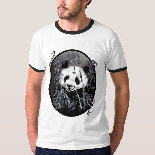 Grey Tone Panda Oval Shirts