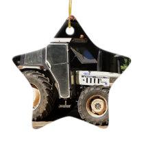 Grey tractor, El Camino, Spain Ceramic Ornament