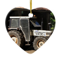 Grey tractor, El Camino, Spain Ceramic Ornament
