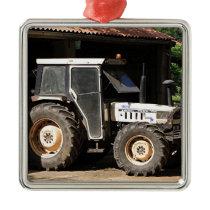 Grey tractor, El Camino, Spain Metal Ornament