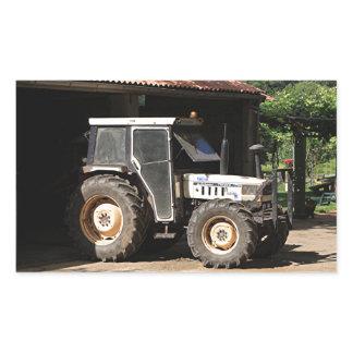 Grey tractor, El Camino, Spain Rectangular Sticker