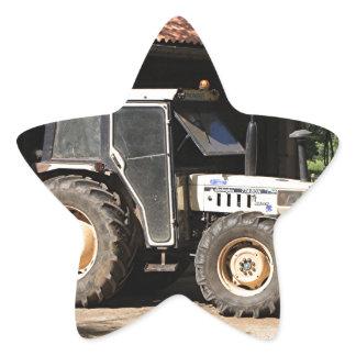 Grey tractor, El Camino, Spain Star Sticker