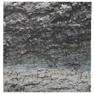 Grey tree bark close up fading cloth napkin
