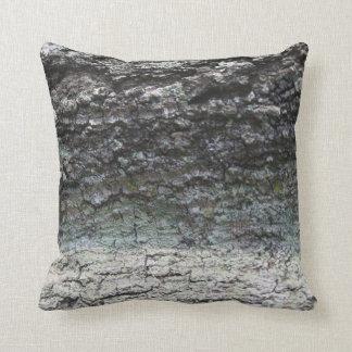 Grey tree bark close up fading pillow