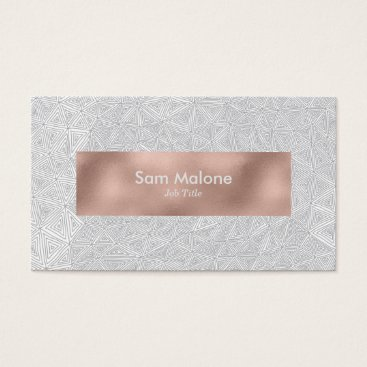 Professional Business Grey Triangles Business Card