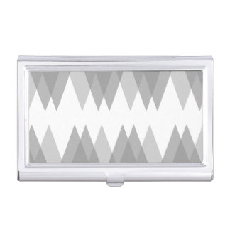 Grey triangles business card case