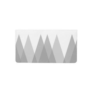 Grey triangles checkbook cover