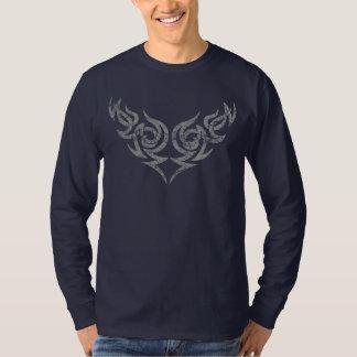 Grey Tribal distressed wing motif 2 T-Shirt
