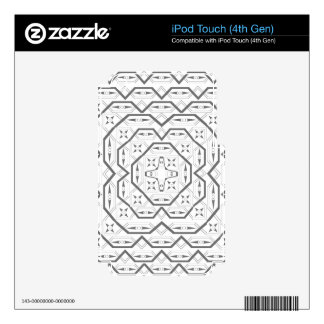 Grey Tribal Lines Skin For iPod Touch 4G