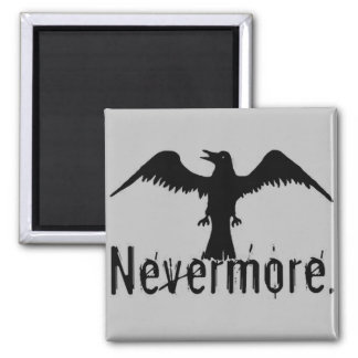 Grey Tribal Raven Nevermore Magnet