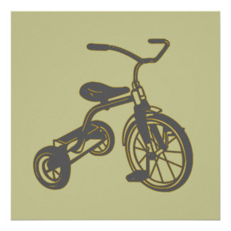 Grey Tricycle Poster