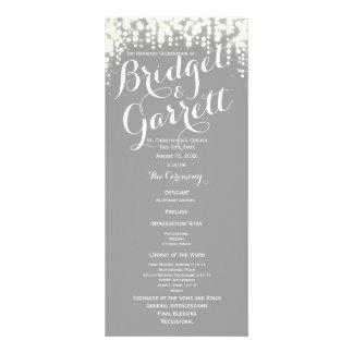 Grey Twinkle Lights Wedding Program