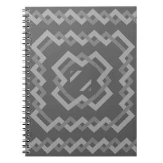 Grey Twisted Lines Notebooks