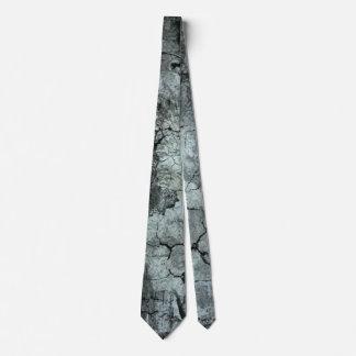 Grey Urban Art Cracked Cement Tie