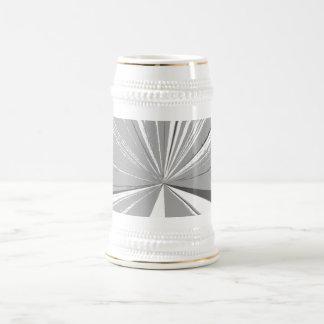 Grey Vanishing Point Beer Stein