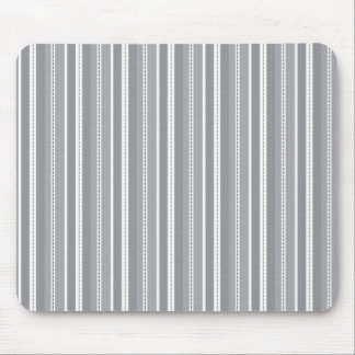 Grey Vertical Stripes Customizable Wedding Pattern Mouse Pad