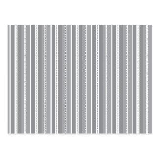 Grey Vertical Stripes Customizable Wedding Pattern Post Cards