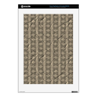 Grey vertical tribal pattern decals for the PS3