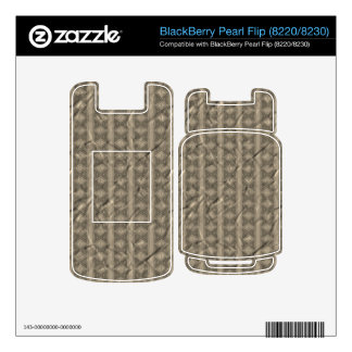 Grey vertical tribal pattern skin for BlackBerry pearl