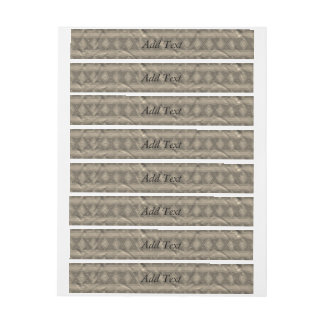 Grey vertical tribal pattern wrap around address label